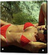 Angela Red Bikini-0721 Acrylic Print