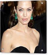 Angelina Jolie Acrylic Print by Nina Prommer