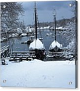 Angelique And Lewis R French In The Snow Acrylic Print