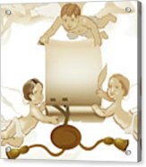 Angels Invitation Acrylic Print