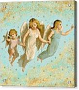 Angels Three Children Vintage Acrylic Print
