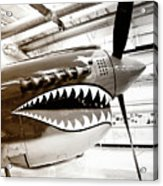 Anger Management Bw Palm Springs Air Museum Acrylic Print