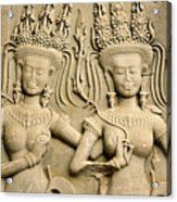 Angkor Wat Relief Acrylic Print