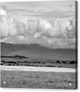 Anglesey Farmland And Distant Hills North Wales Uk Acrylic Print