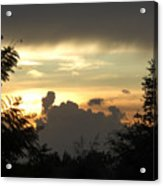 Angry Clouds Rising Acrylic Print