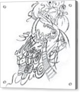 Angry Fairy Acrylic Print