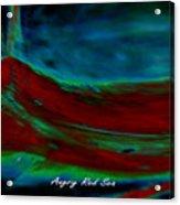 Angry Red Sea Acrylic Print
