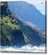 Angry Sea, Na Pali Coast Acrylic Print