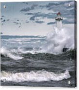 Angry Waters Of Lake Ontario Acrylic Print