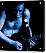 Angus Rocks The Blues Acrylic Print