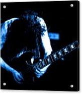 Angus Young On Guitar Acrylic Print
