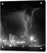 Anheuser-busch On Strikes Black And White Acrylic Print