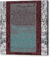 Animal  Ketubah- Reformed And Interfaith Version Acrylic Print