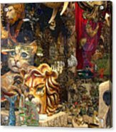 Animal Masks From Venice Acrylic Print