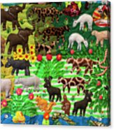 Animal Tapestry Acrylic Print