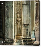 Ankgor Wat  Apsaras Acrylic Print
