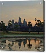 Angkor Wat Sunrise Pond Acrylic Print