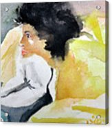 Ann Watching Tv Acrylic Print