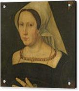 Anna Van Spangen Wife Of Adriaen Van Der Goes Acrylic Print