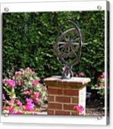 Annapolis Garden Ornament Acrylic Print
