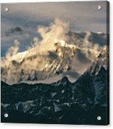 Annapurna Mountain Range In Evening Sunlight Acrylic Print