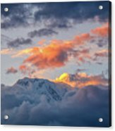 Annapurna South Peak In Sunset Clouds Acrylic Print