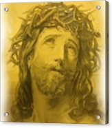 Anne Anastasi Christ Pencil Acrylic Print