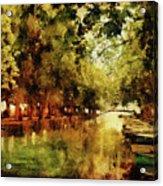 Annecy France Pont Des Amours Acrylic Print