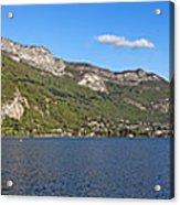 Annecy Lake Panorama Acrylic Print