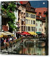 Annecy Medieval Town Acrylic Print