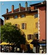 Annecy Town Square Acrylic Print