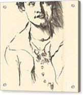 Anneliese Halbe (bildnis Einer Jungen Dame (anneliese Halbe)) Acrylic Print