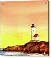 Annisquam Harbor Lighthouse - Summer Scene Acrylic Print