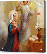 Annunciation To The Blessed Virgin Mary Acrylic Print