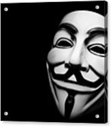Anonymous V For Vendetta Mask Acrylic Print