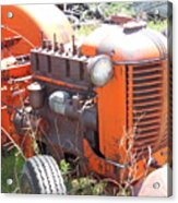 Another Angle Of Old Tractor Acrylic Print