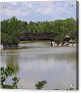 Another Bridge At The Zen Garden Acrylic Print