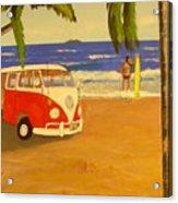 Another Groovy Beach Weekend Acrylic Print