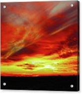 Another Illinois Sunset Acrylic Print