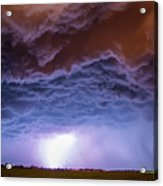 Another Impressive Nebraska Night Thunderstorm 007 Acrylic Print