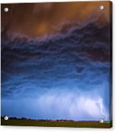 Another Impressive Nebraska Night Thunderstorm 008/ Acrylic Print