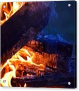 Another Log On The Fire Acrylic Print
