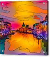 Another Surreal Venice Sunset Acrylic Print
