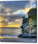Anse Mamin Rock Formation At Sunset Saint Lucia Caribbean Sunset Acrylic Print