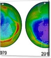 Antarctic Ozone Hole, 1979 And 2015 Acrylic Print