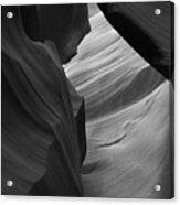 Antelope Canyon Erosions Bw Acrylic Print