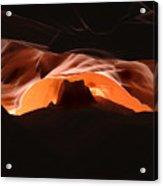 Antelope Canyon Silhouette Arizona Acrylic Print