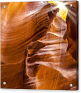 Antelope Canyon Sunrays Acrylic Print