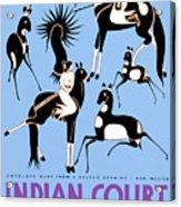 Antelope Hunt From A Navajo Drawing Acrylic Print