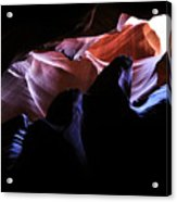 Antelope Slot Canyons Acrylic Print by Ryan Kelly